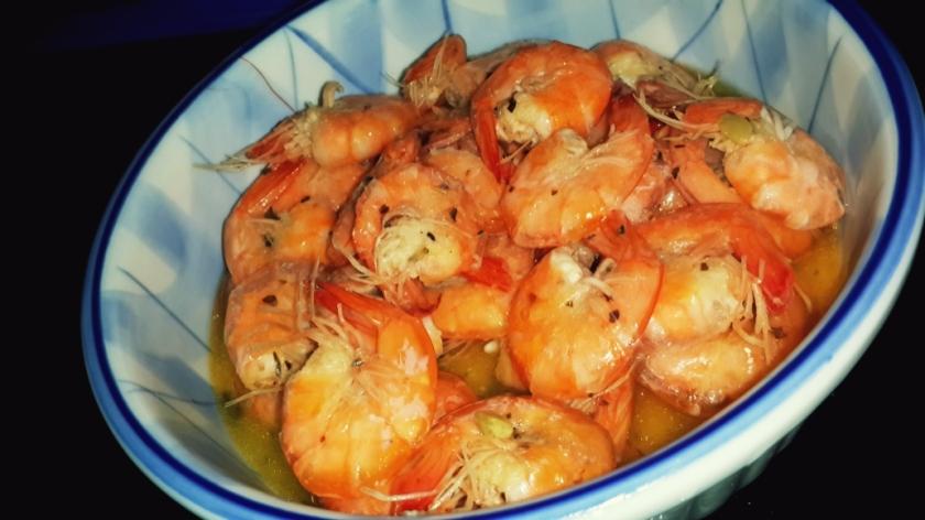 Herbs shrimp